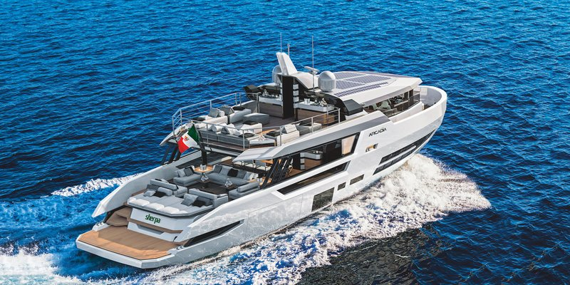 This Sleek New 80-Foot Yacht Rocks 377 Feet of Deck Space for Sun Worshipping